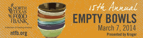 Annual Empty Bowls Luncheon: March 7, 2014