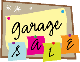 All-Church Garage Sale Drop-off/Pick-up: Saturday, March 1, 2014