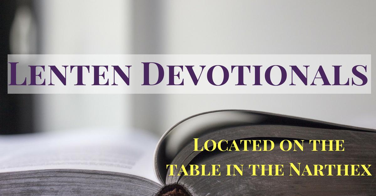 2018 Lenten Devotionals