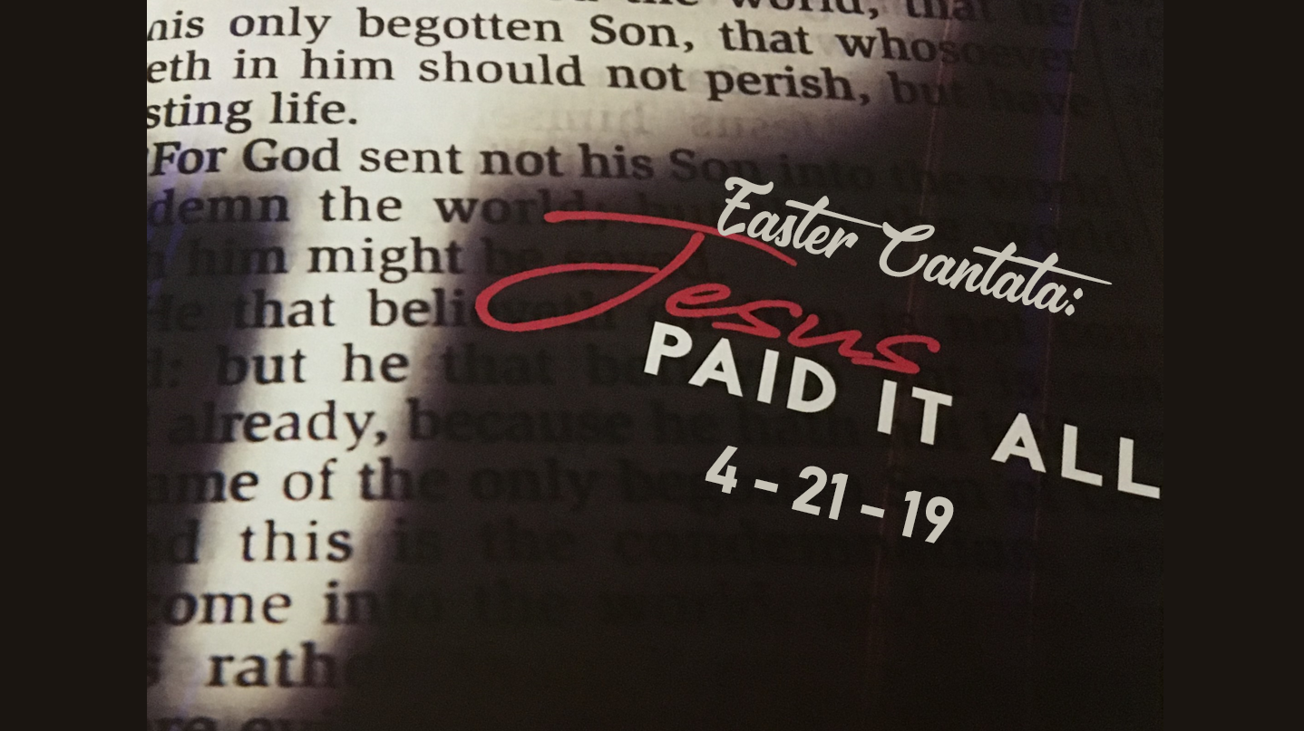 Reminder: 10:30 A.M. Easter Cantata and 4:00 P.M. German Easter Service Sunday, April 21st!