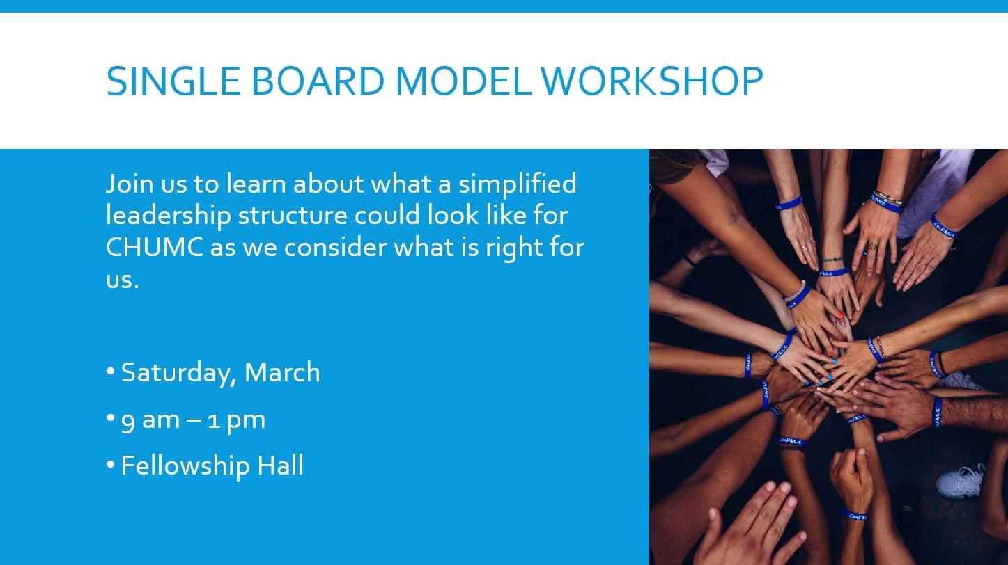 Single Board Model Workshop
